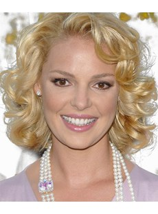 Specialized Classical Beautiful Short Curly Lace Front Wig 100% Human Hair 12 Inches