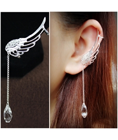 Fashionable Angel's Wing with Crystal Ear Cuffs for Women (Price for One Pair)