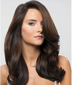 High Quality Simple Long Curly Lace Front Wig 100% Human Hair 16 Inches