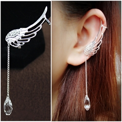 Fashionable Angels Wing with Crystal Ear Cuffs for Women (Price for One Pair)