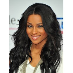 Ciara Hot Sale Attractive Long Wavy Glueless Lace Front Wig 100% Human Hair 18 Inches