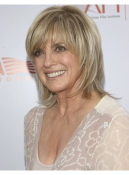 Elegant Custom Linda Gray Hairstyle Short Layered Straight 100% Real Human Hair Wig 8 Inches