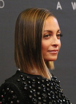 Custom Nicole Richie Shoulder Length 14 Inches Bob Hairstyle Lace Front Wig 100% Human Hair