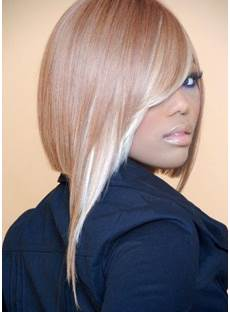 Newest Fashion Top Quality Stylish Straight Mixed Color Synthetic Wig
