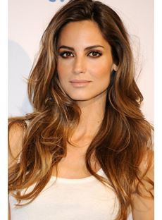 Ariadne Artiles Mixed Color Hair Long Loose Wave Lace Front Wig 100% Human Hair 20 Inches