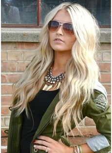 Attractive Boutique Long Wave Lace Wig 100% Human Hair 22 Inches
