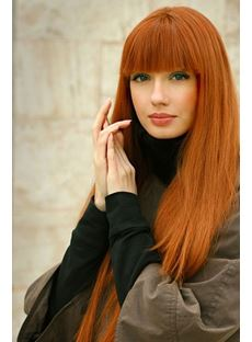 Super Long Capless Wig Layered Cutting With Full Bangs 30 Inches