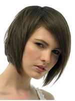 Carefree Trendsetting Short Bob Natural Light Brown Staright Remy Human Hair Lace Front Wig 8 Inches