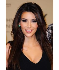 Kim Kardashian Long Straight Lace Front Heat Resistant Hair Wig 22 Inches