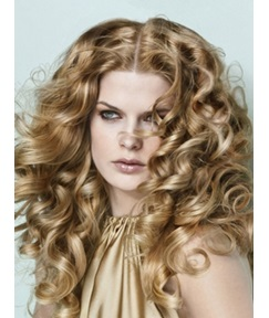 150% Density Pretty Saleable Long Curly Heat-Resistant Synthetic Lace Wig 20 Inches