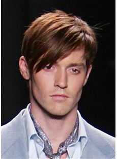 Short Straight Men's Hairstyle Top Quality 100% Human Hair Wig