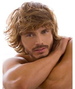Men's Messy Natural Culry Hairstyle Mono Top 100% Human Hair Wig 10 Inches