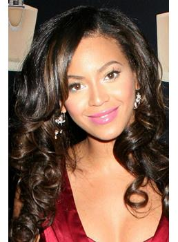Beyonce Long #1B/30 Remy Human Hair Front Lace Wig 22 Inches