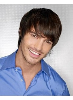 Carefree Men's Hairstyle 100% Human Hair Mono Top Wig