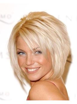 Fashionable Boutique Blonde Short Straight Full Lace Wig 100% Human Hair 10 Inches