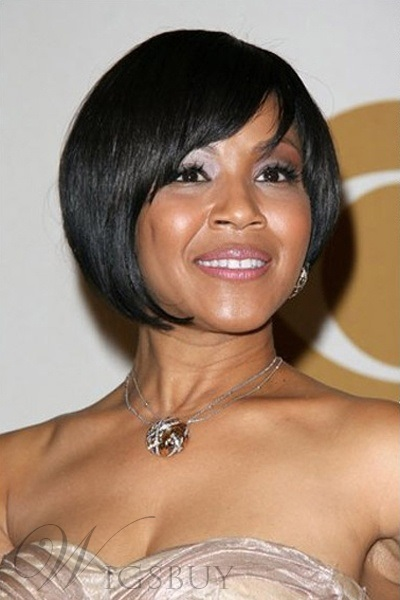 Graceful High Quality Bob Wig Short Straight Full Lace Wig 100% Human Hair 8 Inches