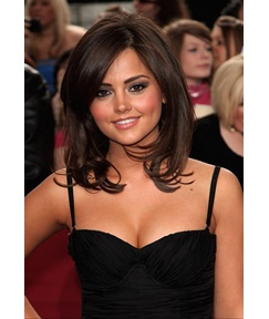 Elegant Amazing Short Natural Straight Medium Brown Lace Front Remy Human Hair Wig 14 Inches