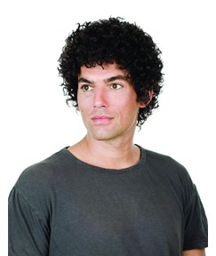 Short Curly High Quality Full Lace Men's Wig 100% Human Hair 150% Density