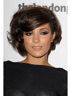 Fluffy Boutique Short Curly Bob Hairstyle Monofilament Top 100% Human Hair 8 Inches