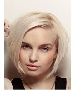 Short Bob Golden Brown( #16) Straight Front Lace Synthetic Wig 8 Inches