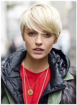 Super Short Fashion Blonde Wig 100% Human Hair