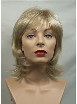 Best Quality Fashional Sharp Layered Blonde Capless Synthetic Wig 10 Inches