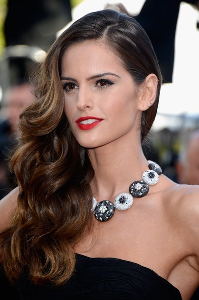 Izabel Goulart Brown Highlight with Dark Root 100 Human Hair Lace Wig 20 inches