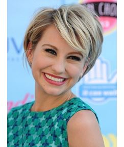 Hot Sale Short Straight Blonde with Dark Roots Monofilament 100 Human Hair Wig