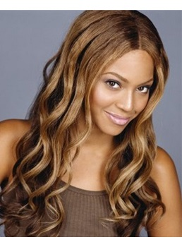 Beyonce Long Wave 100% Human Hair Lace Wig 20 Inches