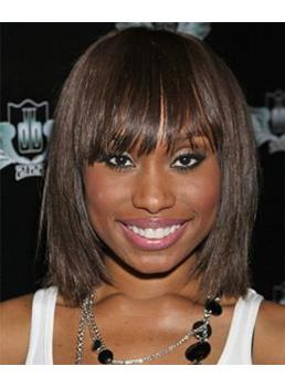 Short Straight Bob Remy Human Hair Capless Wigs for Black Women