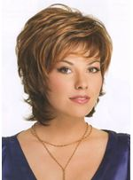 Elegance Short Full Lace Wig 100 Human Hair for White and Black Women