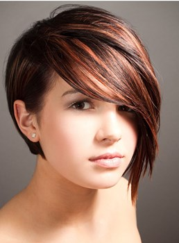 Fashion Trending Short Straight Human Hair Wig 10 Inches