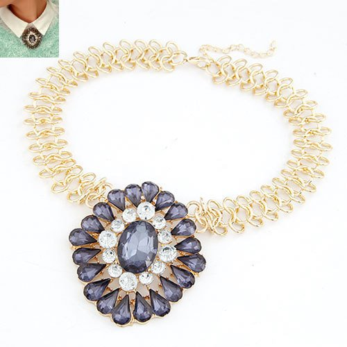 Splendid Water-Drop Gemstone Necklace for Women