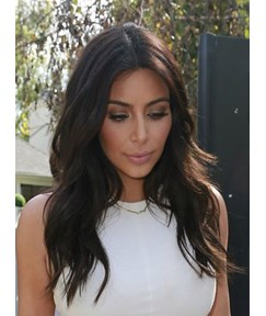 Kim Kardashian Long Natural Wave Human Hair Lace Wig 20 Inches