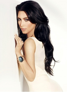 Kim Kardashian Long Wavy Lace Wigs Remy Human Hair 24 Inches