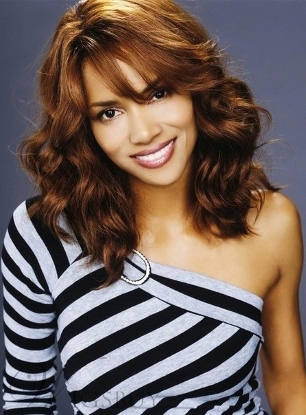 Halle Berry Medium Wav Remy Hair Wigs 16 Inches