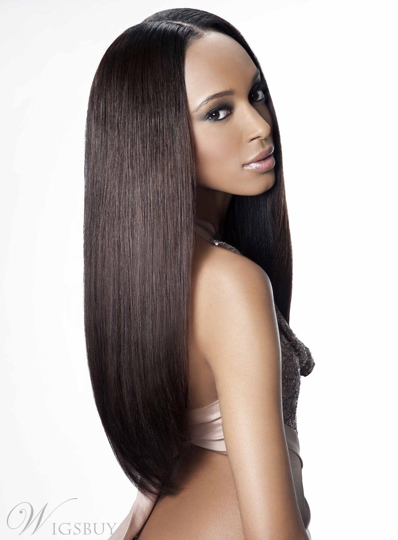 Best Quality 100% Remy Human Hair Long Straight Full Lace Wig 22 Inches