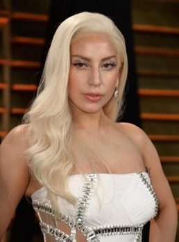 Lady GaGa Blonde Wavy Synthetic Hair Lace Front Wig 22 Inches