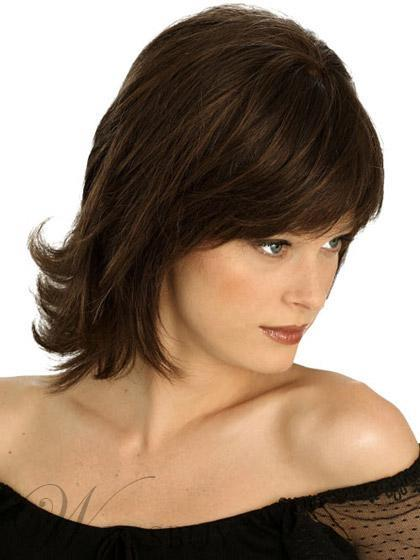 weaved hair styles monofilament top medium layered wig 100 human hair 12 3181 | 43b4e389 3181 4e2e 8060 6ec7af1fd78d
