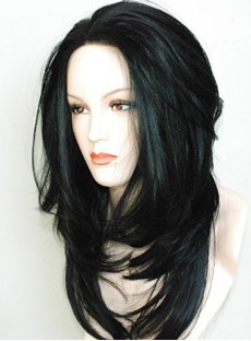 Synthetic Hair Long Layered Loose Wavy Lace Front Wigs 18 Inches #1