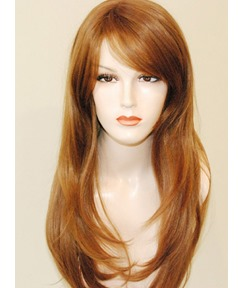 Fashion Long Layered Loose Wavy Auburn Synthetic Wigs 20 Inches #30