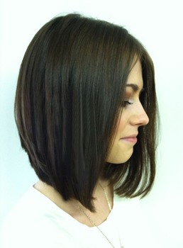100% Hand-tied Monofilament Top with Full Lace Bob Straight Wig 100% Human Hair 12 Inches