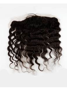 Natural Black Loose Wave 100% Human Hair 13*2 Inches Lace Frontal Closure
