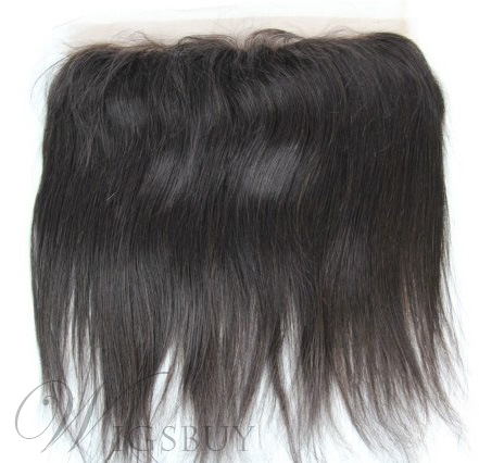 Natural Black Straight 100% Human Hair 13*2 Inches Lace Frontal Closure