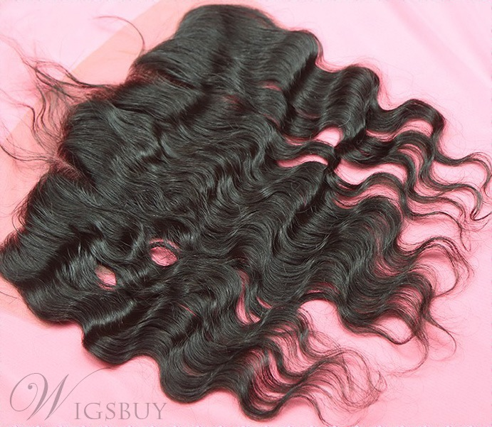 Natural Black Body Wave 100% Human Hair 13*4 Inches Lace Frontal Closure