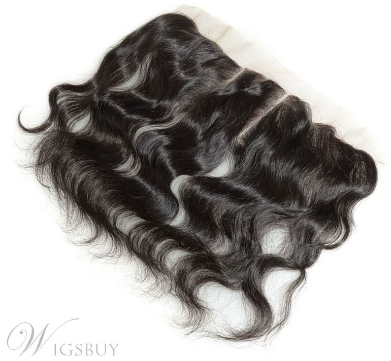 Natural Black Body Wave 100% Human Hair 13*2 Inches Lace Frontal Closure