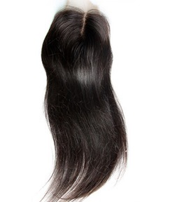 New Straight Unprocessed Human Hair Lace Closures 4*4