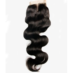 Free Part & Middle Part Human Hair Wave Textures Swiss Lace Top Closure 4*4