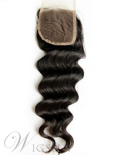 Top Quality Unprocessed Wave Human Hair Lace Closures 3.5*4