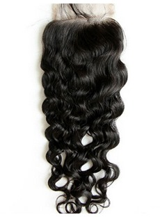 Top Quality Curly Unprocessed Human Hair Lace Closures 5*5